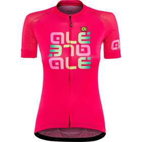 Alé Cycling Solid Mirror Lyhythihainen Jersey Naiset, gerbera